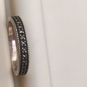 Jewelry - Size 5.5 Sterling Silver and Marcasite band ring